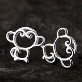 925純銀耳環(耳針式)-俏皮可愛生日情人節禮物女飾品73ag346【巴黎精品】