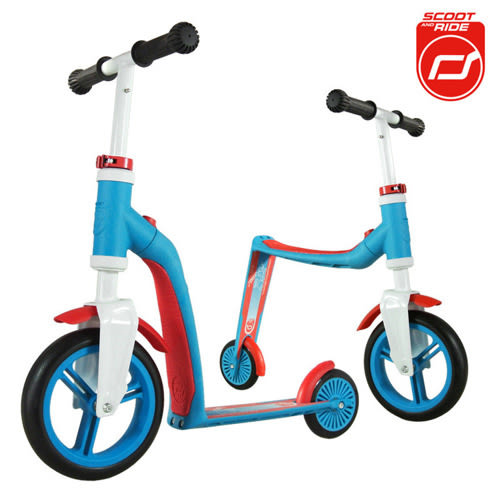 奧地利Scoot & Ride滑步滑板平衡車 Highwaybaby-亮麗藍 (1Y+)