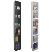 【頂堅】六層間隙書櫃/置物櫃/收納櫃-寬24x深30.3x高180公分素雅白色