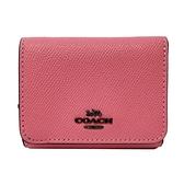 【COACH】多夾層鈔票零錢袋短夾(亮粉色)