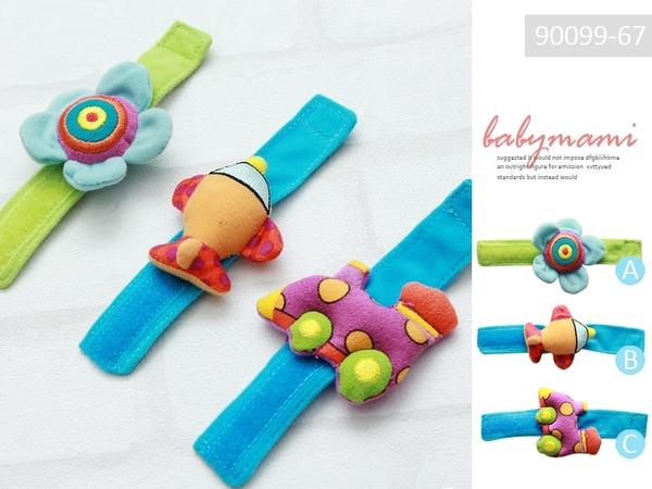 貝比幸福小舖【90099-67】美國Sassy--可愛彩色造型腕帶/腕鈴/手錶帶~多款造型~一個