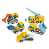 【美國Tender Leaf Toys】建築工地車隊(工程車輛的集合)