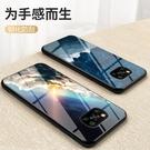小米 POCO X3 Pro 手機殼 軟邊玻璃鏡面星空情侶 超薄全包防摔保護套 冷淡風創意潮牌 保護殼