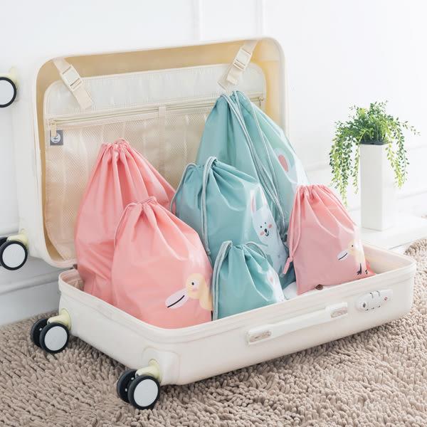 抽繩旅行內衣衣服玩具束口袋小口袋防水旅遊收納化妝袋分裝整理袋(小號21*24)─預購CH1814