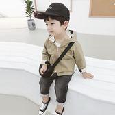 新年大促男童外套春秋2018新款潮韓版兒童休閒連帽上衣寶寶波點兩面穿風衣 森活雜貨