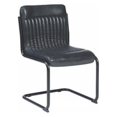 【YFS】Aditi黑色皮鐵腳餐椅-53x53x87cm