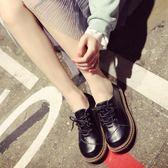 韓版ulzzang原宿日系軟妹小皮鞋女學生百搭學院風娃娃鞋大頭單鞋 〖米娜小鋪〗