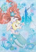 【拼圖總動員 PUZZLE STORY】小美人魚-愛麗兒 日本進口拼圖/Epoch/迪士尼/108P/布面