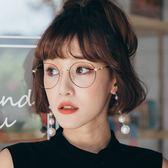韓流名媛款造型鏡腳圓框眼鏡-ASLLY濾藍光眼鏡-怪盜的猜謎遊戲