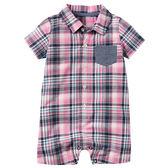 Carter's  Carter s 美國童裝 連身衣 短褲 短袖 格紋 3M 9M 12M
