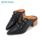 Bo Derek 扣環式高跟穆勒鞋-黑色