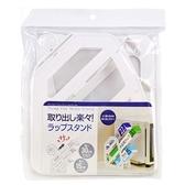 〔小禮堂〕直式塑膠三層保鮮膜收納架《白》置物架 4905687-28951