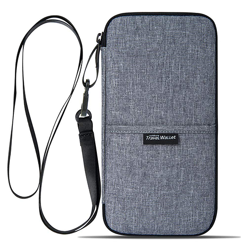 Travel【日本代購】電波遮斷防護 護照包RFID材質 防水 智能手機存放