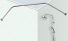 【麗室衛浴】五角型不鏽鋼浴簾架 B-397-2 鑽石型不鏽鋼浴簾架 可以訂製