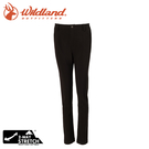 【Wildland 荒野 女 SOFTSHELL窄直筒合身褲《黑》】0A72305/雪褲/運動褲/休閒褲/登山