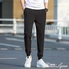 束腳休閒褲男 2020春夏季薄款鬆緊腰抽帶 青年潮流運動彈力長褲子 范思蓮恩