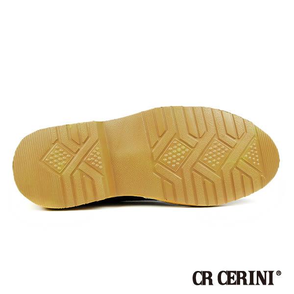 【CR Cerini】復刻棉麻麂皮休閒鞋-咖啡色(2348-DBR)