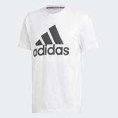 adidas T恤 MH BOS Tee 運動 休閒 男款 短T 短袖 上衣 大LOGO 三條線 黑白 黑 白 【PUMP306】 DT9929