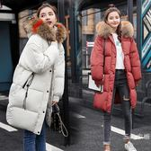 2019冬季新款孕婦裝羽絨棉衣服女中長款加厚大碼寬鬆懷孕外套棉襖