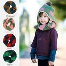 【發現。好貨】韓國 winghouse 條紋針織 氣質 條紋 兒童 拼色脖圍 圍巾 加厚版