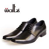 Waltz-沖孔雕花德比鞋612024-02(黑)