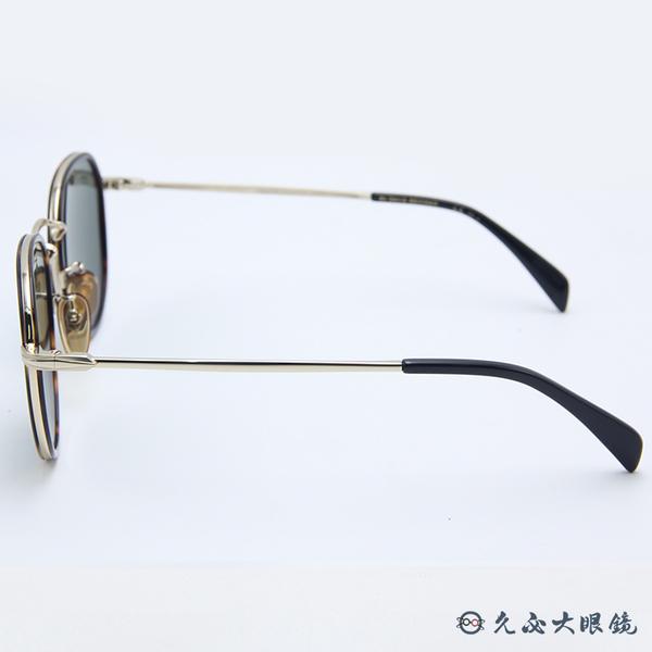 DB EYEWEAR 貝克漢設計品牌 DB1010S (琥珀-金) 圓框 太陽眼鏡 久必大眼鏡