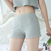 安全褲防走光女薄款胖mm200斤棉質不卷邊打底褲大尺碼保險短褲子