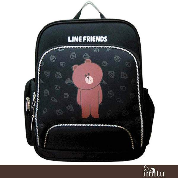 imitu  [1+1]【LINE FRIENDS】EVA 護脊書背包+小側包