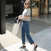 618好康鉅惠闊腿牛仔褲寬鬆2018新款韓版直筒褲