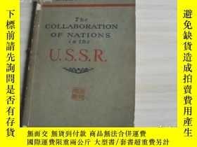 二手書博民逛書店THE罕見COLLABORATION OF NATIONS IN THE U.S.S.R 外文原版書Y1712