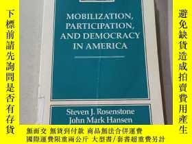 二手書博民逛書店MOBILIZATION罕見PARTICIPATION AND DEMOCRACY IN AMERICA:美國的動