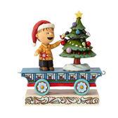 《Enesco精品雕塑》SNOOPY 奈勒斯聖誕列車塑像-All Aglow(Peanuts by Jim Shore)_EN96028