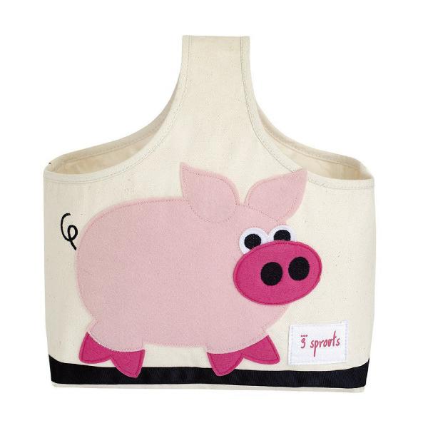 【原廠公司貨】加拿大 3 Sprouts 手提收納包-粉紅豬