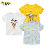 兒童短袖t恤 棉質潮童寶寶夏季韓版中大童兒童男女孩半袖上衣女童