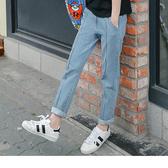 《BA2488》褲管抽鬚中縫線直筒牛仔褲 OrangeBear