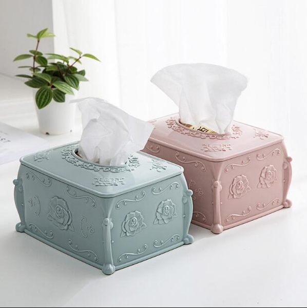 歐式塑料紙巾盒家用茶幾面紙盒 奇幻樂園