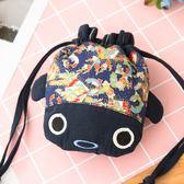 Kiro貓‧小金魚 造型 3C收納 雜物袋/小束口袋【820069】