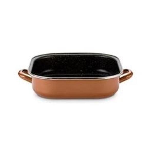 西班牙DELIMANO琺瑯瓷原石無油不沾鍋-方形雙耳燉烤鍋(27cm)