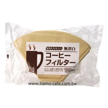 金時代書香咖啡  日本 103 無漂白咖啡濾紙 100入袋裝 (4-7人用)  HG3255-3