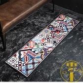 防滑廚房地墊北歐長條墊子家用進門墊臥室床邊地毯【雲木雜貨】