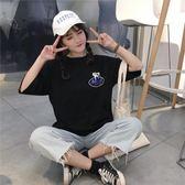 短袖新款韓版原宿風t恤女學生寬鬆百搭上衣 免運
