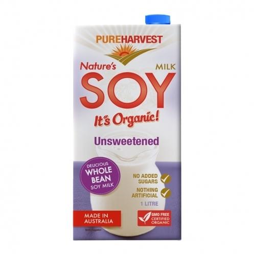 澳洲【PUREHARVEST】有機無糖豆奶 (1000ml/瓶) #無糖