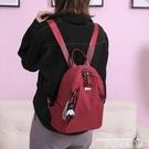 尼龍後背包後背包女背包2021新款韓版潮牛津布尼龍時尚百搭女士旅行小包包女 交換禮物 曼慕