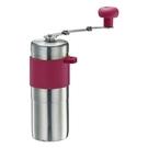 金時代書香咖啡 Tiamo 1209 攜帶型迷你不鏽鋼手搖磨豆機 桃紅色 HG6171P