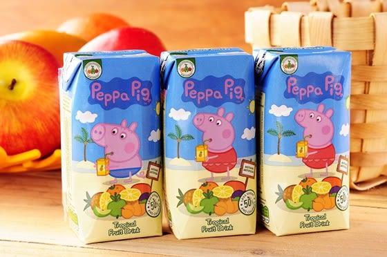 Peppa Pig 粉紅豬小妹(佩佩豬)  200ml(3入/組)~3種口味(.熱帶水果)