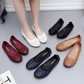 店慶優惠三天-懶人鞋 簡約軟底中年女鞋夏季平底中老年媽媽涼鞋包頭孕婦洞洞鞋防滑
