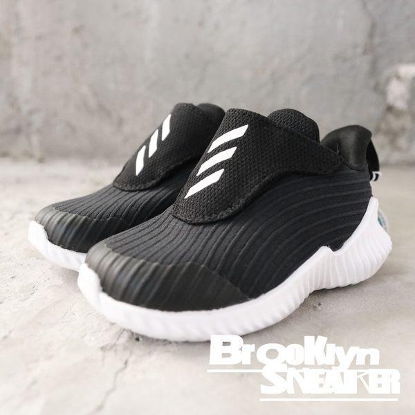 Adidas Fortarun Ac I 小童 黑白 黏帶 運動  魔鬼氈 童鞋 (布魯克林)  AH2637