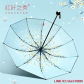 遮陽傘紅葉雨傘大號女折疊雙人小清新超大傘晴雨兩用防曬防紫外線太陽傘 CY潮流站