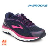 【BROOKS】女款避震型慢跑鞋 2E寬楦 DYAD 9 - 深藍粉(232E442)-全方位跑步概念館