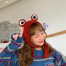 可可愛愛chao萌立體小青蛙手工編織毛線護耳發帶保暖耳套女秋冬 交換禮物 color shop